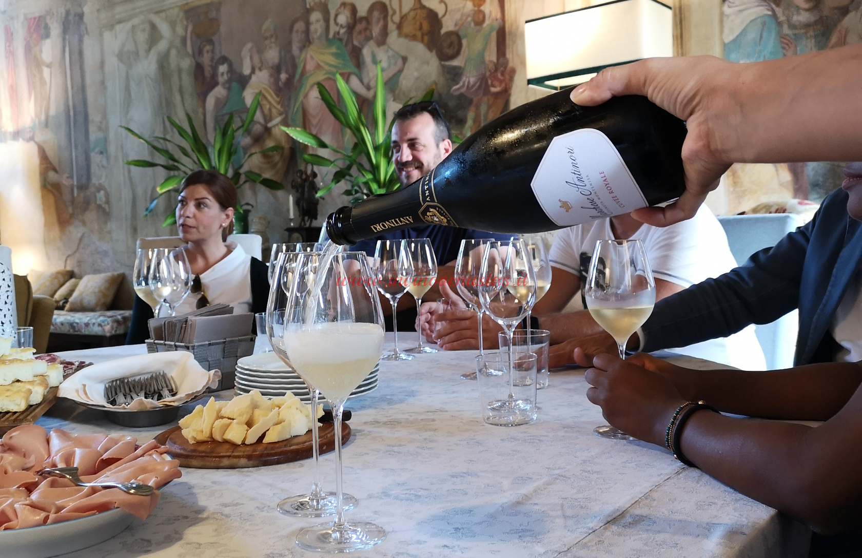Degustazione vini Tenuta Montenisa Marchese Antinori Franciacorta