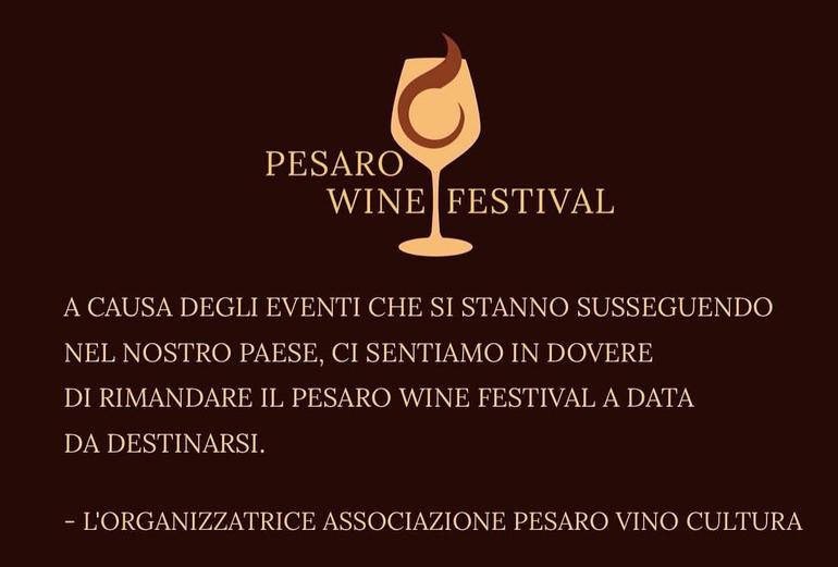 Pesaro wine Festival 2020 rimandato