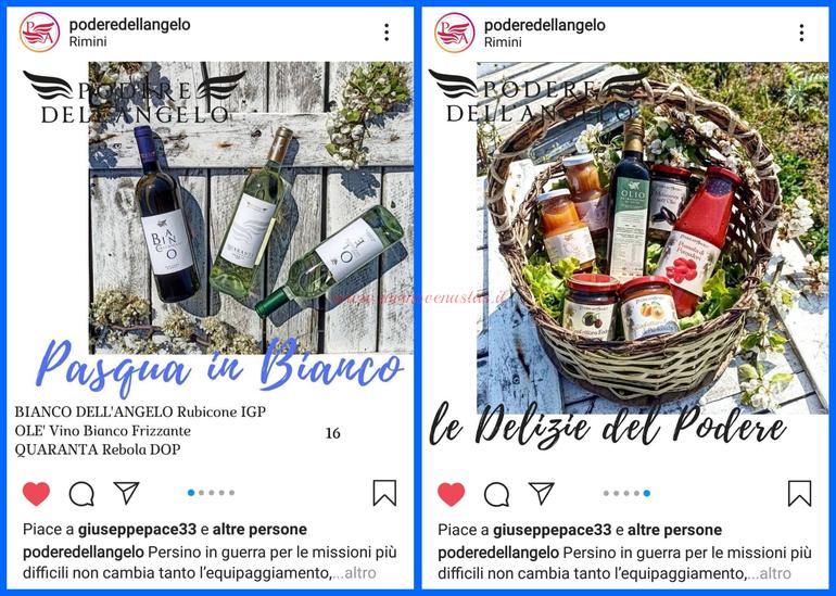 Podere dell' Angelo Rimini consegne a domicilio vino e cibo per Pasqua
