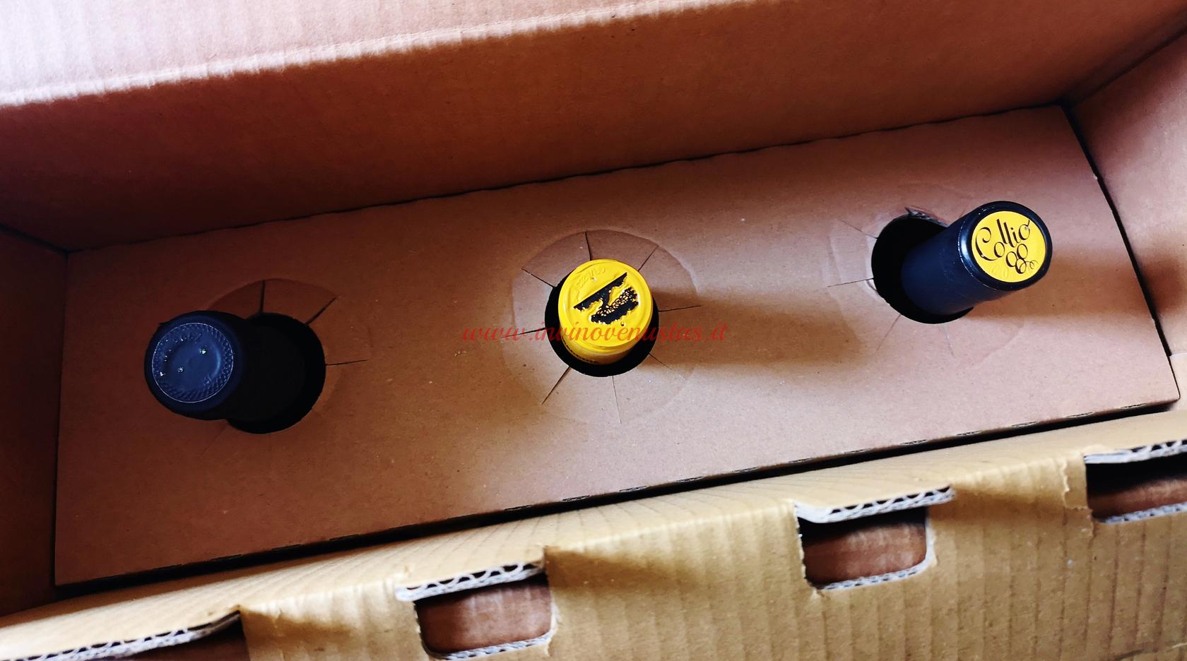 Dettaglio imballaggio vini Sommelier Wine Box
