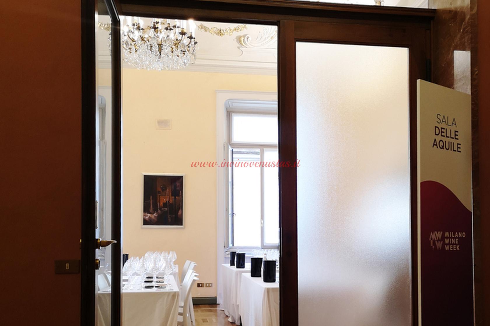 Sala delle Aquile Palazzo Bovara Milano Wine Week 2019