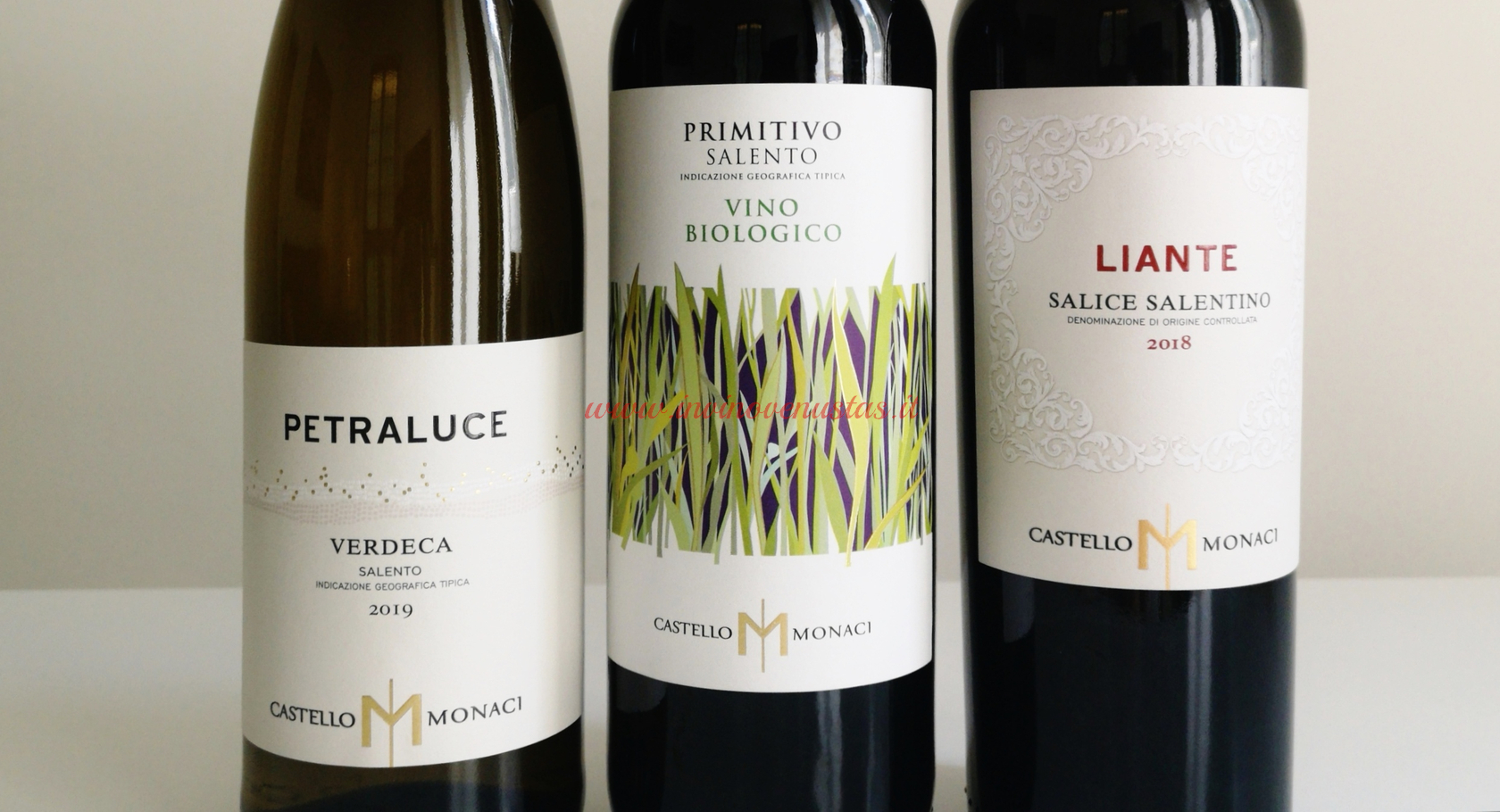 Vini Castello Monaci - Petraluce, Primitivo Biologico, Liante Salice Salentino