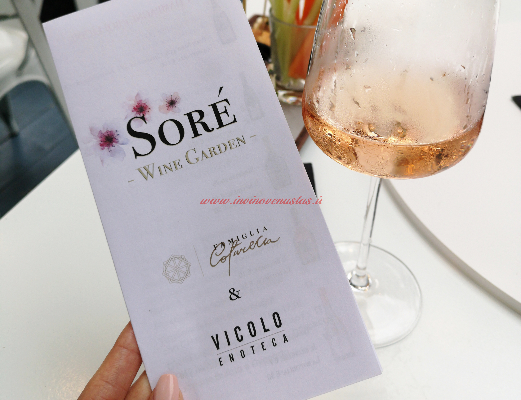 Degustazione Soré Cotarella nel Soré Wine Garden di Riccione