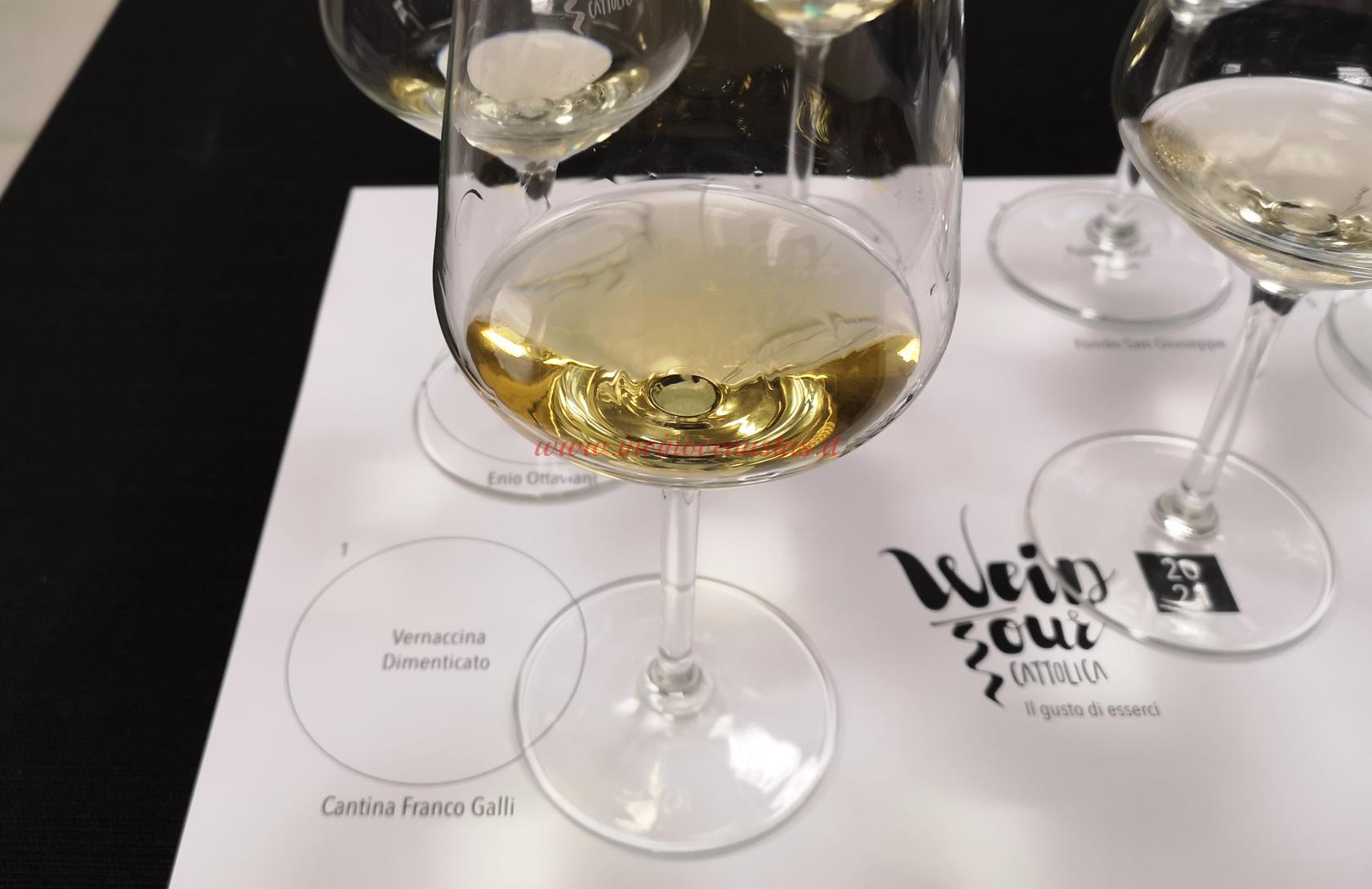Vino bianco Dimenticato Franco Galli da Vernaccina