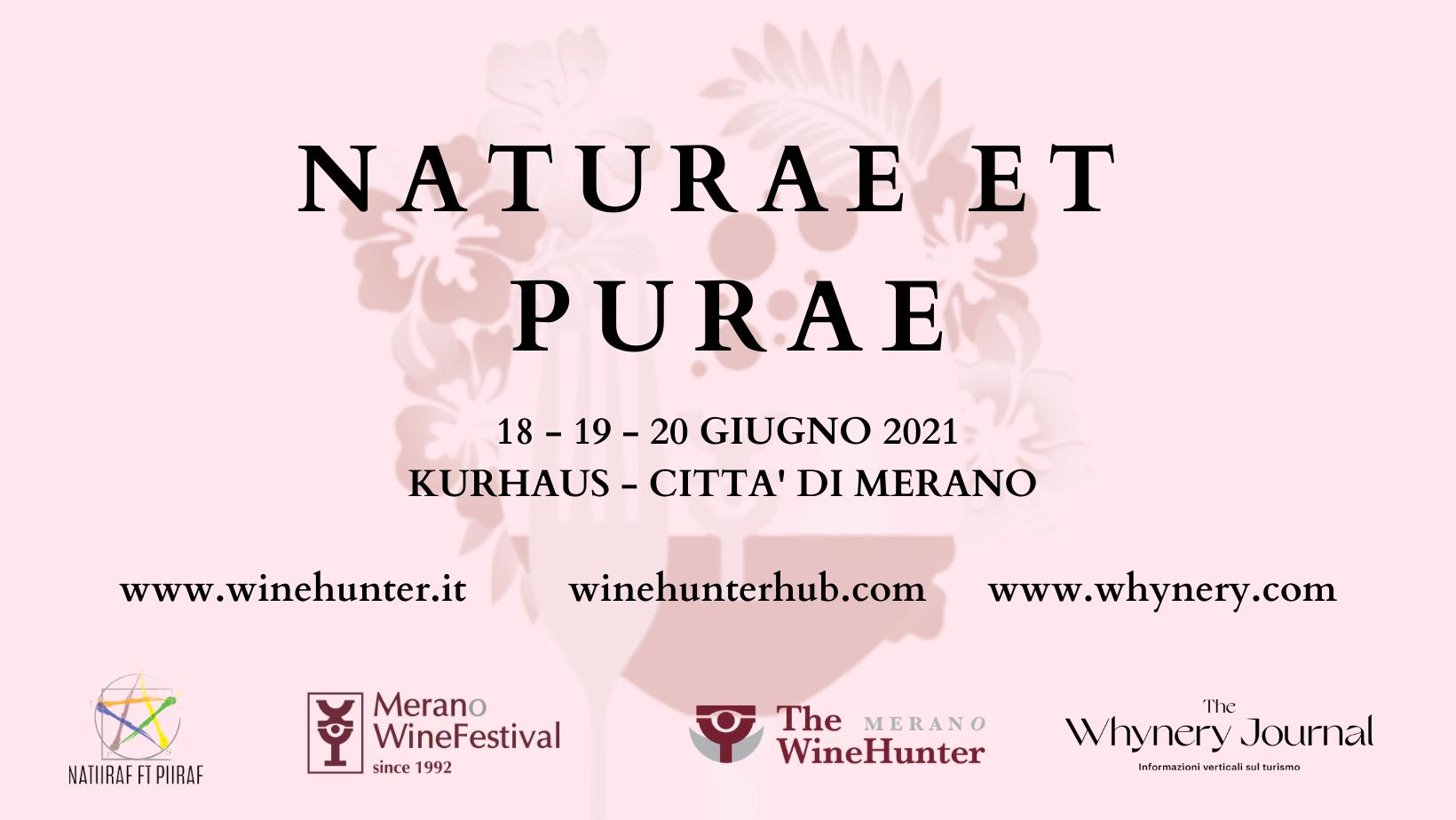 Naturae et Purae Antperima Merano Wine Festival 2021