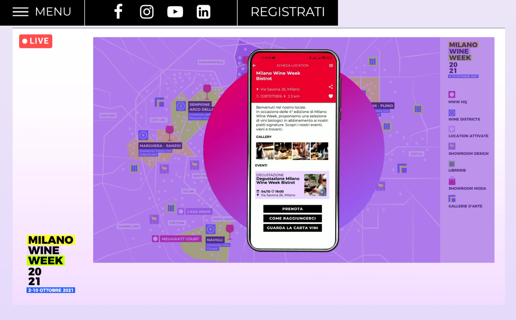 "App ""W"" per Milano Wine Week 2021"
