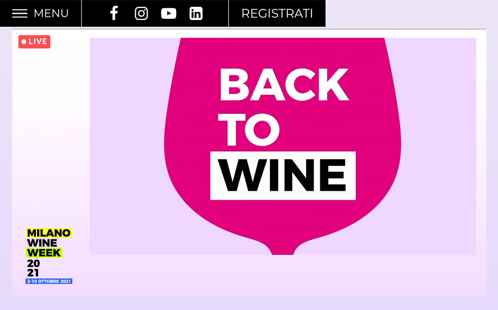 Back to Wine Milano Wine Week 2021