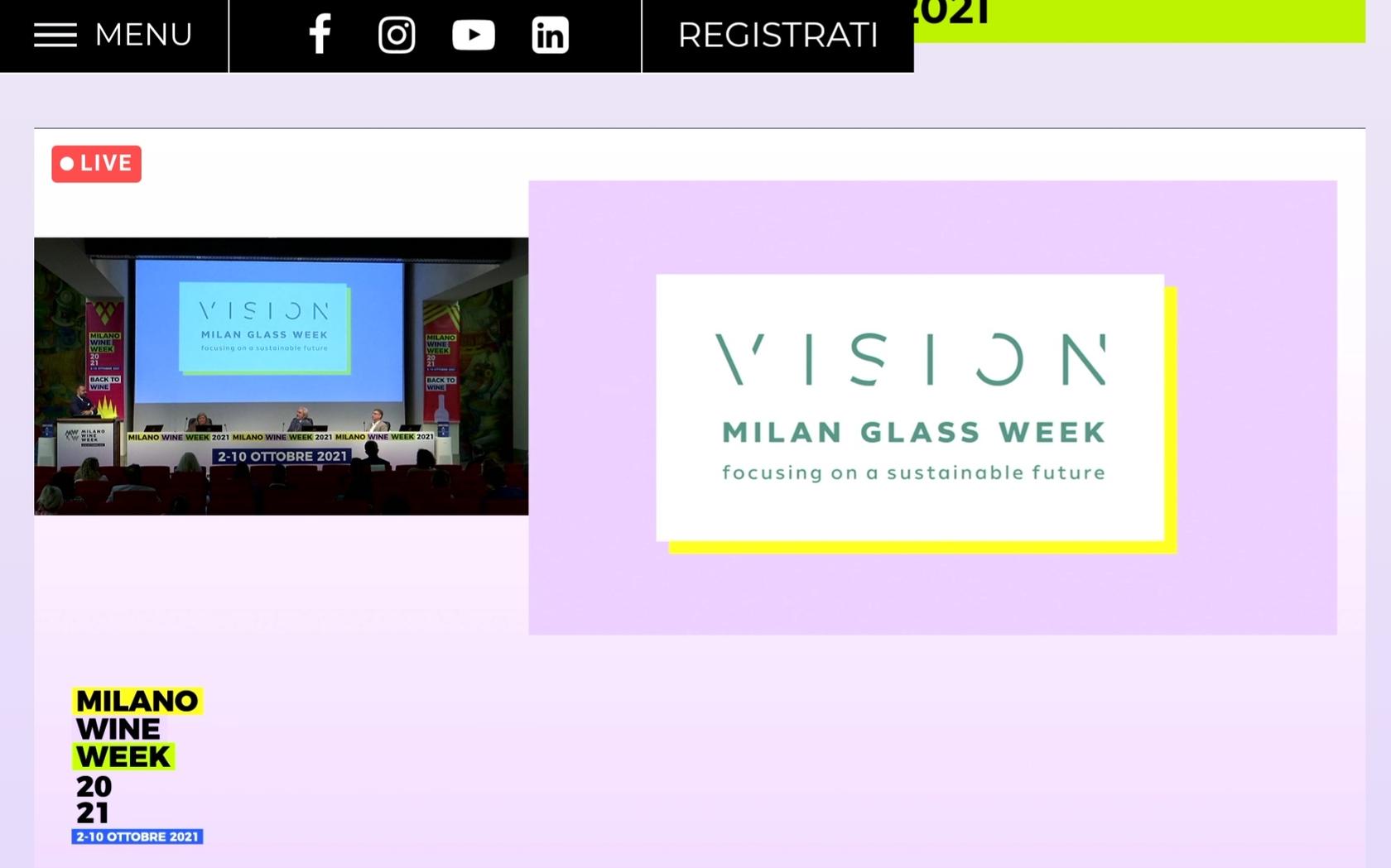 MWW e Vision Milan Glass Week 2021
